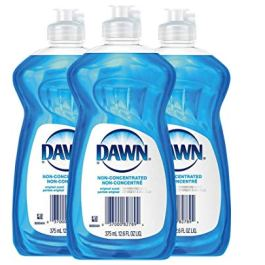 Dawn Non Concentrated Original Dishwashing Liquid, 12.6 Fluid Ounce 3 per Order