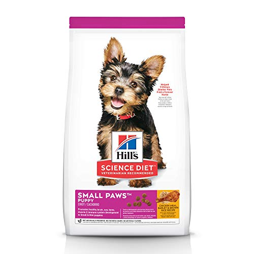 Hill's Science Diet Puppy Food, Small & Toy Breed Chicken Meal & Barley Dry Dog Food, 15.5 lb Bag