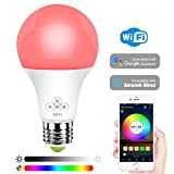 HaoDeng Smart LED WiFi Light Bulb -Timer & Sunrise & Sunset - 50W Equivalent E27,Dimmable,Multicolor,Warm White(Color Changing Disco Ball Lamp) Compatible with Alexa,Google Home and IFTTT