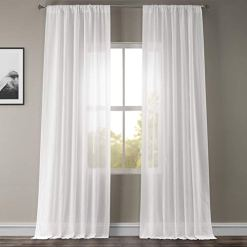 White Orchid Sheer Linen Curtains