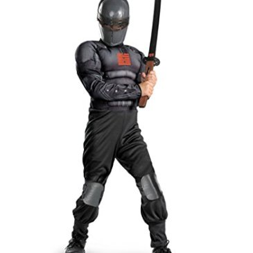 Disguise Boys GI Joe Movie Snake Eyes Light Up Deluxe Muscle
