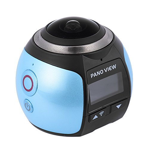 Andoer 360 DVR Panorama Camera Wifi Fisheye Film Source Panorama Camera 2448P 30FPS 16M for Virtual Glasses VR Action Sports Outdoor Activities Camera Camcorder