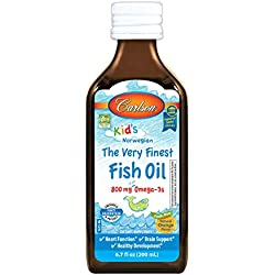 Carlson Kid's The Very Finest Fish Oil, Orange, Norwegian, 800 mg Omega-3s, 200 mL