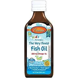 Carlson Kid's The Very Finest Fish Oil, Orange, Norwegian, 800 mg Omega-3s, 200 mL