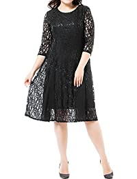 Women's Plus Size Lace Mother of The Bride Formal A Line Dress