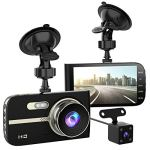 Full HD 1080P Dash Cam Front and Rear 290 Degree Super Wide Angle Car Camera Recorder 4.0″ Screen Dash Camera for Cars with G-Sensor Motion Detection Parking Mode etc