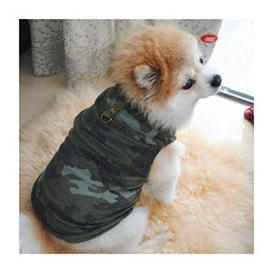 Petea Pet Dog Clothes Camouflage Dog Vest Winter Villi Coat Warm Pet Puppy Apparel for Dogs and Cats