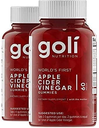 Apple Cider Vinegar Gummy Vitamins - Immunity & Detox - (2 Pack, 60 Count, with The Mother, Gluten-Free, Vegan, Vitamin B9, B12, Beetroot, Pomegranate) - 2 Pack 1