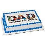 Superman Dad Hero Edible Picture Cake topper