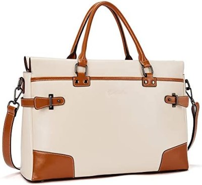 BOSTANTEN Leather Briefcase Messenger Satchel Bags Laptop Handbags for Women
