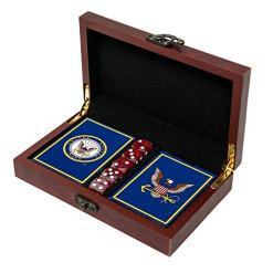 Navy Playing Cards With Dice Us Navy Gift Set