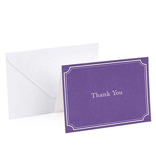 Hallmark Thank You Cards, Assorted Solid Colors (Pack of 50 Note Cards with Envelopes, Blank Thank You Notes for Business, Graduation, Weddings, Showers)