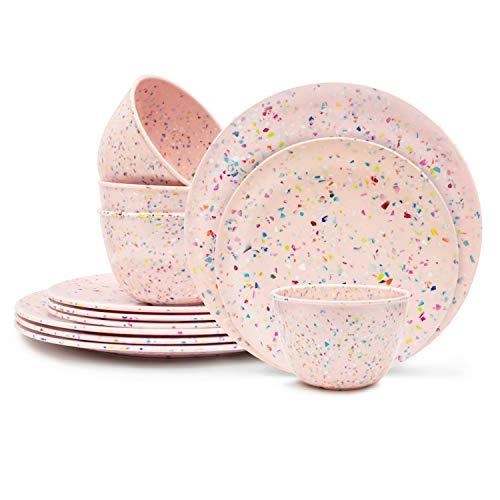 Zak Designs Confetti Dinnerware Set