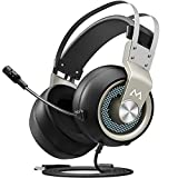 Mpow Eg3(Series II) PC Gaming Headset 7.1 Surround Sound, PS4 USB Headset with Mic, Gaming Grade 50mm Drivers, Surround Eq Setting, Mic/Volume Control, Soft Earmuffs LED Gaming Headphones for PC/PS4