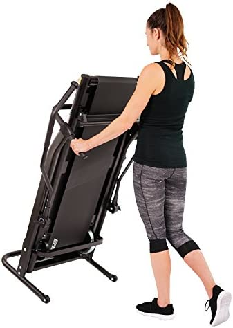 EFITMENT Adjustable Incline Magnetic Manual Treadmill w/Pulse Monitor 8