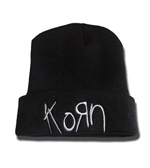 Korn Band Logo Beanie Fashion Unisex Embroidery Beanies Skullies Knitted Hats Skull Caps