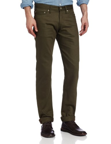 41onaPvZCEL Straight-leg chino with five-pocket styling and back logo patch Silver-tone rivets/button