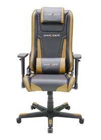DX Racer Elite Series DOH/EA01/NC Racing Bucket Seat Office Chair Gaming Chair Ergonomic Computer Chair eSports Chair Executive Chair Furniture Rocker With Pillows (Black/Coffee)