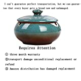 ANCHUANG Ceramic Ashtray with Lids,Windproof,Cigarette Ashtray for Indoor or Outdoor Use,Ash Holder for Smokers,Desktop Smoking Ash Tray for Home Office Decoration (Blue)
