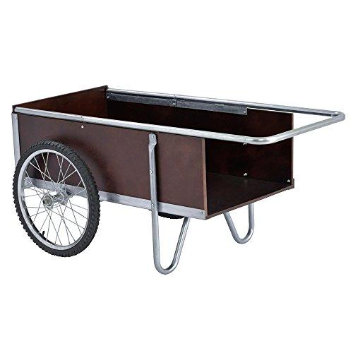 "Sandusky Lee GC5332 6.5 Cubic Foot Galvanized Steel Edging Garden Cart, 52.5"" Length, 21.25"" Height, 31.50"" Width"