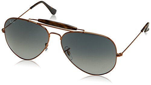 41orODeOYqL Case included Lenses are prescription ready (rx-able) Fine metal profiles in shiny bronze tones and exciting new multi-gradient shades. One of Ray-ban's most iconic doublebridge styles.