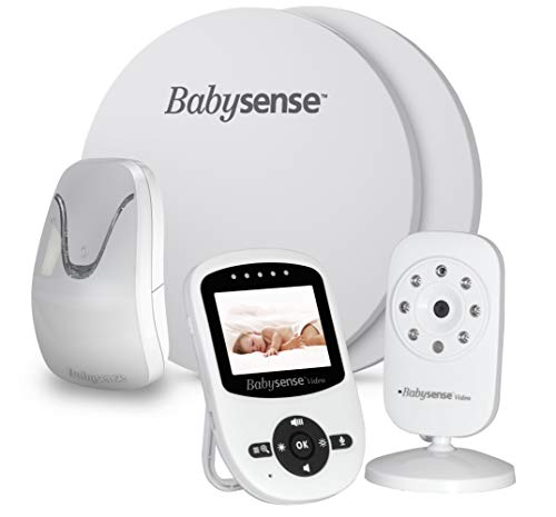 New Model: Babysense Video + Baby Movement Monitor - Bundle Pack: Babysense Video Baby Monitor with Babysense 7 Under-The-Mattress Baby Movement Monitor - 2 in 1