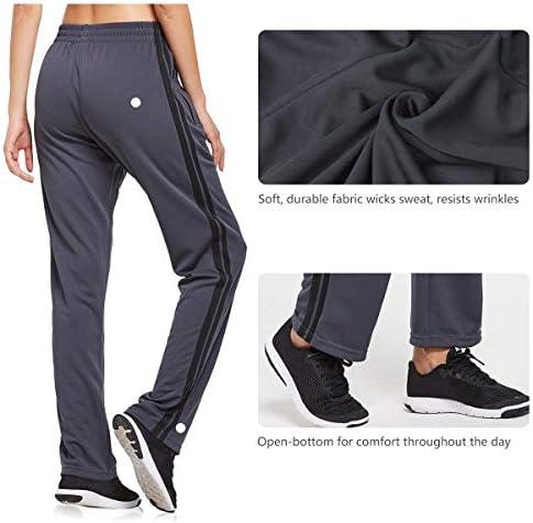 BALEAF Women's Track Pants Athletic Sports Sweat Pants Open Leg Jogger Sweatpants Zippered Pockets Lounge 5