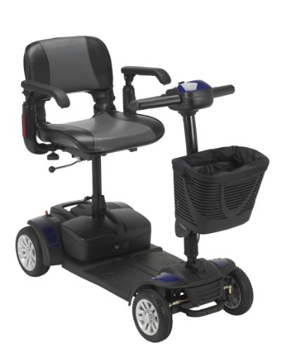 Drive Medical Spitfire Ex Travel 4-Wheel Mobility Scooter, 21 Ah Batteries