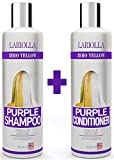 (2-PACK) Best Purple Shampoo and Conditioner for Blonde Hair - Blonde Shampoo for Silver & Violet Tones - Instantly Eliminate Brassiness & Yellows - Bleached & Highlighted Hair - Made in USA - 8oz