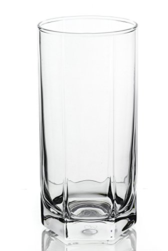 Skyline Double Classic Water Juice Beer Glasses 6-Piece Set, 14 Ounce