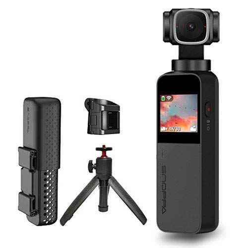Snoppa-Vmate-Handheld-3-Axis-Gimbal-Camera-with-4k-HD-Camera-90--Rotation-Lens-and-123-Inch-Sensor-220min-Runtime-WiFi-ConnectBuilt-in-Mic--Bluetooth-Mic-includ-Telescopic-Tripod-and-Base