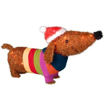 light up dachshund yard decoration dachshund lighted insideoutside yard decor - Outdoor Lighted Dog Christmas Decorations