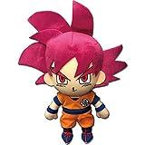 Great Eastern Entertainment Dragon Ball Super Dragon Ball Z Super Saiyan God SSG Goku Plush, 8' H, Multicolor