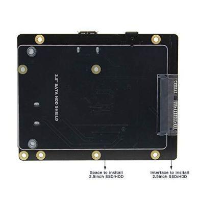 Geekworm-Raspberry-Pi-3-B3B-SATA-HDDSSD-Storage-Expansion-Board-X820-V30-USB-30-Mobile-Hard-Disk-Module-for-25-Inch-SATA-HDDSSDRaspberry-Pi-3-Model-B-B-Plus3-BROCK64Tinker-Board
