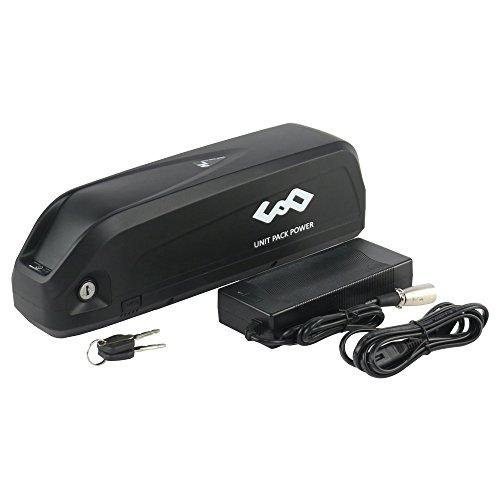 UnitPackPower New Hailong 48V 14.5AH/17.5AH Lithium ion Battery Down Tube Battery Pack with USB Port 30A BMS For 48V 750W 1000W Electric Bike Motor (48V 14.5AH Panasonic)