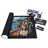 Becko Puzzle Roll Jigsaw Storage Felt Mat, Jigroll Up to 1,500 Pieces, Environmental Friendly Material for Jigsaw Puzzle Player, Box with Drawstring Storage Bag