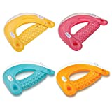 Intex Sit 'N Float Inflatable Colorful Floating Loungers, 4 Pack (Colors Vary)