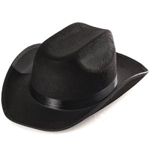 6150f8dcec2 Adult Black Cowboy Hat Mens Womens Unisex Costume By Funny Party Hats