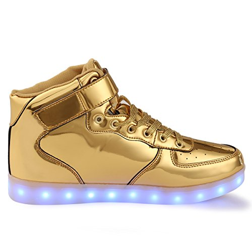 Anluke Kids High Top Led Shoes 11 Colors Light Up Sneakers As Gift