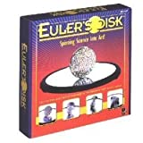 Euler's Disk Spinning and Rotating Light