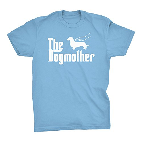The DogMother - Dachshund - Godfather Weiner Dog T-Shirt - Carolina Blue