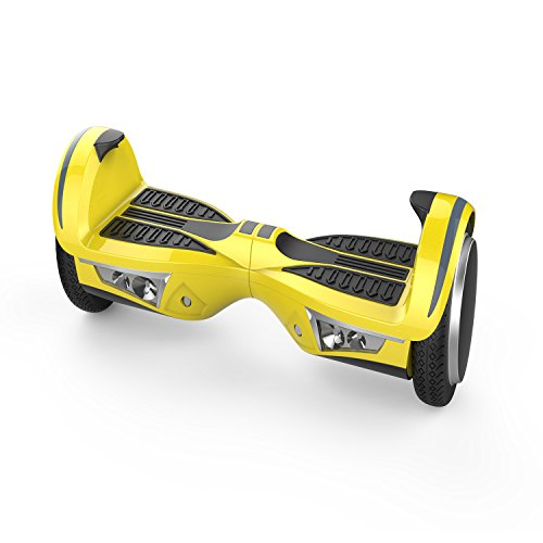 SAVA N5 JUMPING SHOCKPROOF UL Certified 2272 Self BalancingScooter/Hoverboard with Bluetooth Speaker LED Lights Free Carry Case Firesafe Battery (Yellow)