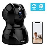 1080P WiFi Camera Indoor, Whew Wireless Home Security Camera Baby Monitor Pet Camera with Night Vision, 2-Way Audio, Motion Detection, Cloud Storage, Work with Alexa, Black