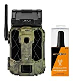 SPYPOINT Link-S-V Solar Cellular Trail Camera, 4G/LTE (VERIZON ONLY), 12MP HD Video, Patented Solar Panel, Blur Reduction&IR Boost, 0.07s Trigger, 100' Detect/Flash (Link-S-V + CA-01 Cell Antenna)