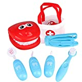 LBZE Dentist Kit Doctor Toy for Kids, Doctor Tools Medical Pretend Play Set for Doctor Role Play Costume Dress Up, Educational Toy for Classroom School Girls Boys (Blue)
