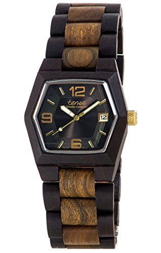 Tense Men's or Women's Kootenay Watch in Dark and Green Sandalwood G8300DG-BG
