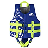 Gogokids Kids Swim Vest Folat Jacket - Boys Girls Floation Swimsuit Buoyancy Swimwear Blue