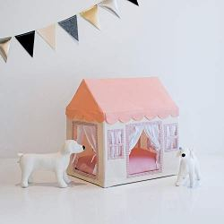 PETITE MAISON Pet House – House for Dog, Cat, Kitty or Puppy, Small to Medium Sized, Handmade Indoor/Outdoor Kennel, 100% Aluminium Super-Light, Portable, 24″ x 16″ x 25″, Petite House