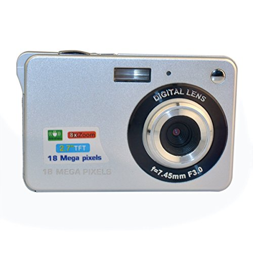 GordVE SJB25 2.7inch 18MP Mini Digital Camera 8x Digital Zoom Silver Color