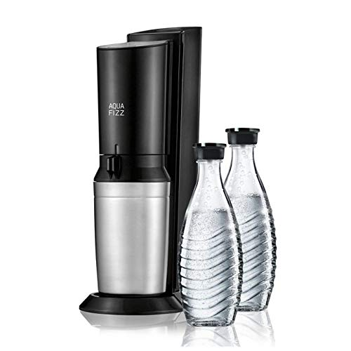 SodaStream Fizzi Sparkling Water Maker Starter Kit with 60L CO2 and 1L Bottle, Black